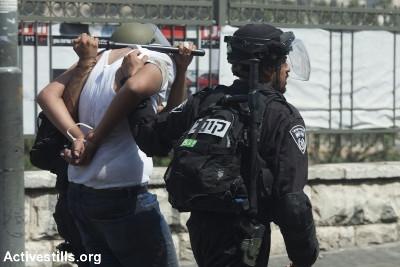 Arrestation violente d'un manifestant palestinien - Photo: Oren Ziv, ActiveStills