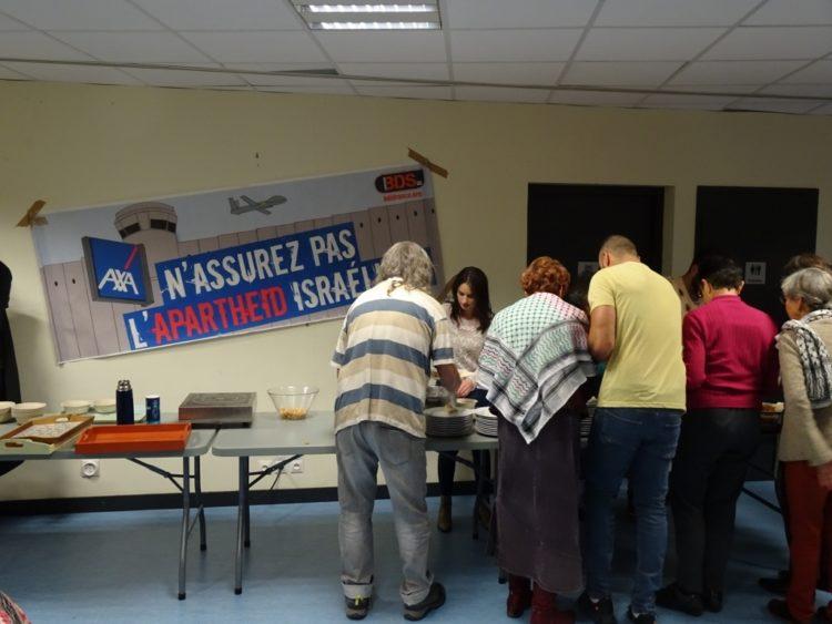 Mobilisation contre AXA à Clermont-Ferrand